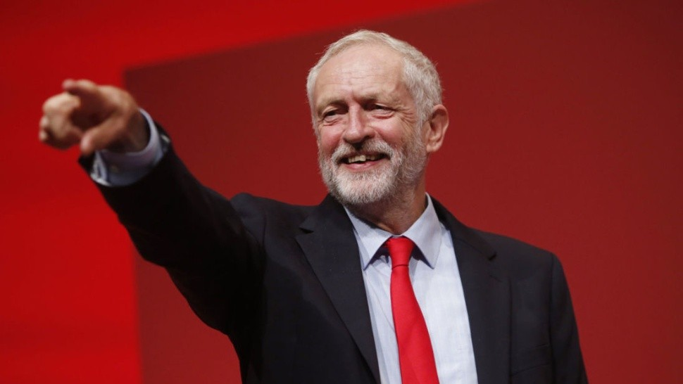 Labour leadership challenge - Jeremy Corbyn celebrates his victory following the announcement of the winner in the Labour leadership contest between him and Owen Smith at the ACC Liverpool.  PRESS ASSOCIATION Photo. Picture date: Saturday September 24, 2016. See PA story LABOUR Main. Photo credit should read: Danny Lawson/PA Wire