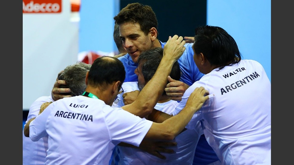 Great Britain v Argentina: Davis Cup Semi Final 2016 - Day One - xxxx during day one of the Davis Cup Semi Final between Great Britain and Argentina at Emirates Arena on September 16, 2016 in Glasgow, Scotland.
