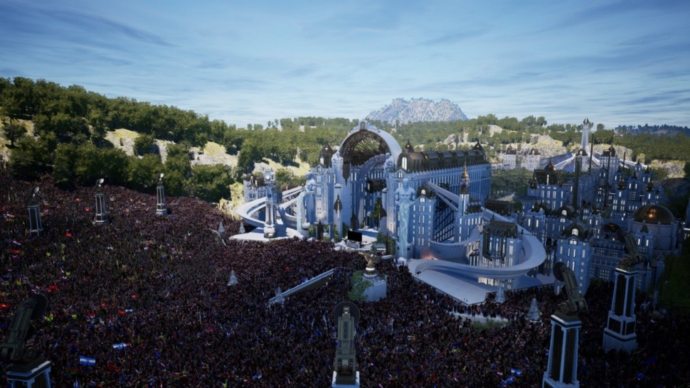 El tremendo escenario virtual de Tomorrowland