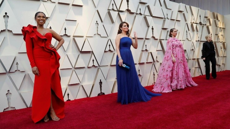 REFILE - CORRECTING TYPO IN LASTNAME   91st Academy Awards - Oscars Arrivals - Red Carpet - Hollywood, Los Angeles, California, U.S., February 24, 2019.  Jennifer Hudson, Tina Fey, Maya Rudolph and Amy Poehler. REUTERS/Mario Anzuoni AWARDS-OSCARS/